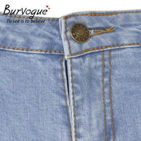 LA Fashion District LLC Burvogue Skinny Lifting Jeans Pencil Jeans Full Length Hole Style Jeans Leggings Ripped USASTOC