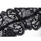 LA Fashion District LLC Crop Tops Hot Selling Ladies Solid Black Spaghetti Strap Sexy Lace Crochet Slim Lingerie