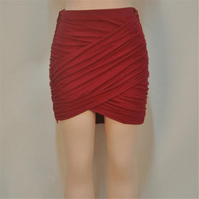 la-fashion-district-llc Dark red / L Elastic Women Skirt Slim Pencil Skirts Clubwear Suitable Casual Solid Color Clothing