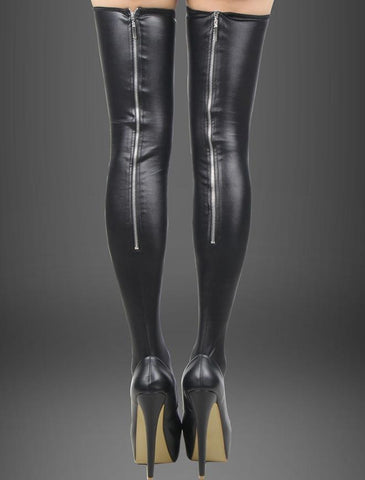 LA Fashion District LLC Default Title leather stockings back zipper high quality women stocking brand new
