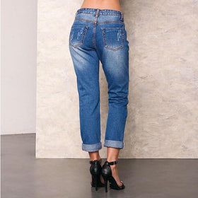 la-fashion-district-llc Distressed Jeans Ankle Length New Pants Waist Sexy Ripped Jeans 1060