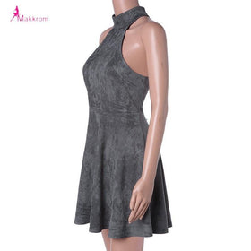 la-fashion-district-llc Dress Woman Party Bandage Lace up Off Shoulder Backless Casual Solid Pleated Mini Dress
