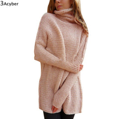 LA Fashion District LLC FANALA Winter Sweater Women Long Knitted Turtle Neck Thick Warm Sweater and Pullovers Sweater