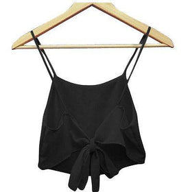 LA Fashion District LLC girls Black / One Size Sleeveless Camisole Shirt  Casual Blouse Crop Tops