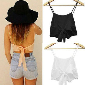LA Fashion District LLC girls Sleeveless Camisole Shirt  Casual Blouse Crop Tops