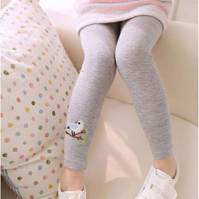 LA Fashion District LLC Gray / 3T Leggings Baby Kid Girl Bird Pattern Stretchy Pants Trousers