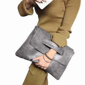 la-fashion-district-llc Gray Fashion Envelope Clutch Bag Women Crossbody Bag Party Evening Vintage Women Handbags
