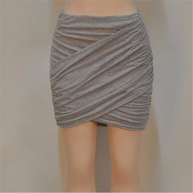 la-fashion-district-llc Gray / L Elastic Women Skirt Slim Pencil Skirts Clubwear Suitable Casual Solid Color Clothing