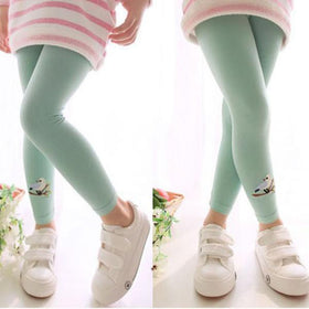 LA Fashion District LLC Green / 3T Leggings Baby Kid Girl Bird Pattern Stretchy Pants Trousers