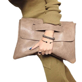 la-fashion-district-llc Khaki Fashion Envelope Clutch Bag Women Crossbody Bag Party Evening Vintage Women Handbags