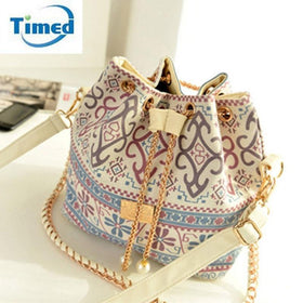 LA Fashion District LLC Lady Bucket Bag  Chains Shoulder Handbags Women's Vintage Messenger Bags Bolsa