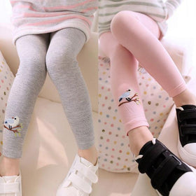 LA Fashion District LLC Leggings Baby Kid Girl Bird Pattern Stretchy Pants Trousers