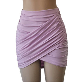 la-fashion-district-llc Lilac / L Elastic Women Skirt Slim Pencil Skirts Clubwear Suitable Casual Solid Color Clothing