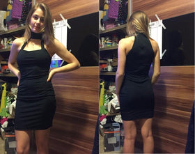 LA Fashion District LLC Low Cut Sexy Dresses Off Shoulder Mini Bodycon Dress Black Dress Girls Vestidos