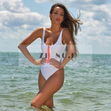LA Fashion District LLC LT152 / L lace up one piece swimwear swimsuit bathing suit for women hollow out monokini bodysuit
