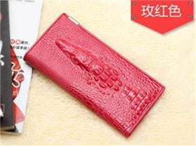 LA Fashion District LLC Rose Wallet Cowhide Women's Wallets Clutch Long Design Purse Bags Handbag Fashion Women Purse