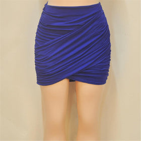 la-fashion-district-llc Royal blue / L Elastic Women Skirt Slim Pencil Skirts Clubwear Suitable Casual Solid Color Clothing