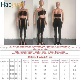 la-fashion-district-llc Set Clothing Bodycon Sexy Bandage Off Shoulder Backless Top And Long Pants 2 Piece Set