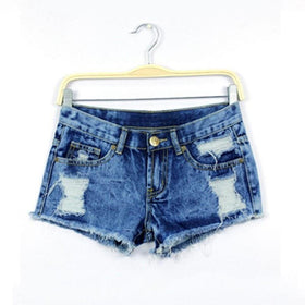 la-fashion-district-llc Spring Shorts Women Denim Female Shorts Solid Blue Short Jeans Hole Style Summer Shorts