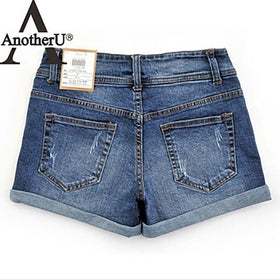 la-fashion-district-llc Thin Beaded Three-dimensional Hole High Waist Shorts Denim Shorts for Women Loose Plus Jeans Short