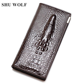 LA Fashion District LLC Wallet Cowhide Women's Wallets Clutch Long Design Purse Bags Handbag Fashion Women Purse