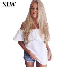 LA Fashion District LLC White / One Size Sleeveless  Tops Tees Off Shoulder