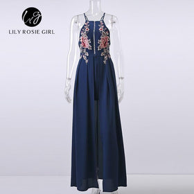 la-fashion-district-llc White / S Rose Embroidery Playsuits Women Strap Off Shoulder Party