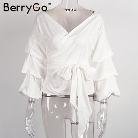 la-fashion-district-llc White / S Rose  Off shoulder ruffle white blouse Sexy cotton cool blouse shirt women Winter