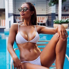 la-fashion-district-llc White / S Summer Style Sexy Bathing Suit Women Swimwear Swimsuit Sexy Bikini Swimwear Strap Bikinis