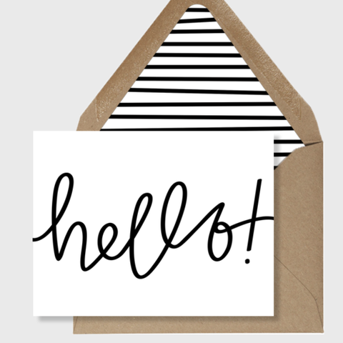 Hello Cards + Lined Envelopes