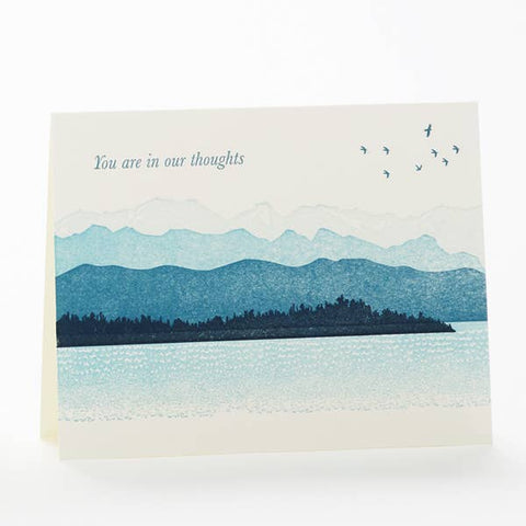 Mountains You Are in Our Thoughts Card