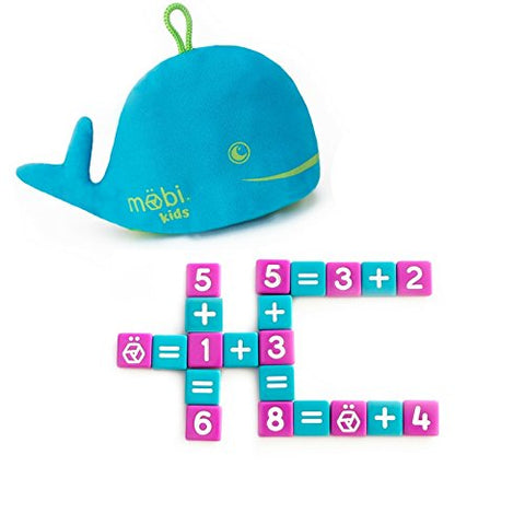Numerical Tile Game for Kids in a Whale Pouch