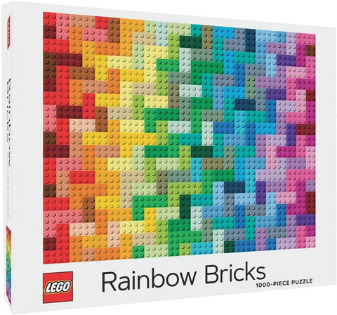 Lego Rainbow Bricks 1000 Piece Jigsaw Puzzle