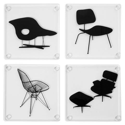 Eames Acrylic Chairs Coasters