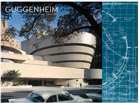 Lloyd Wright Guggenheim Two-Sided Puzzle