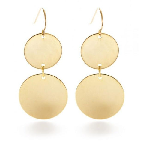 Gold Disc Earrings By Amano Studio