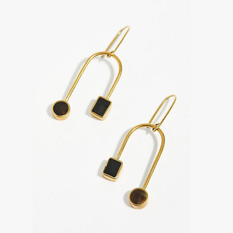 Mari Curved Dangle Earrings by SOKO