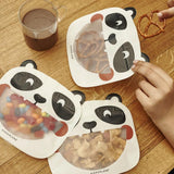 Reusable Animal Zipper Bags, Set of 3, Available in Panda or Tiger