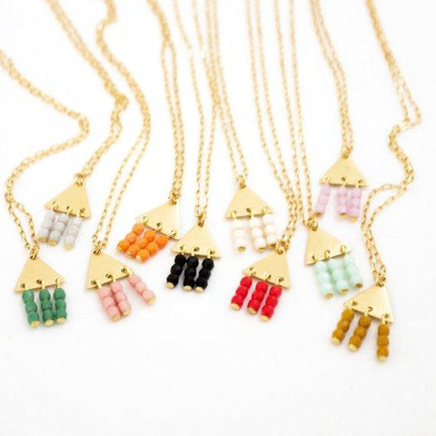 Colorful Geometric Necklace by Nest Pretty Things