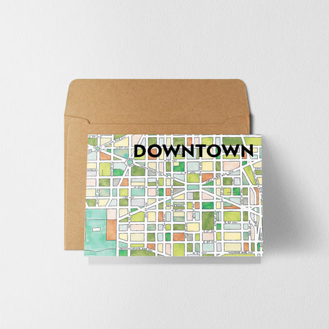 Downtown DC Greeting Card