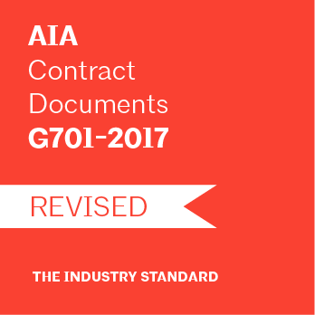 G701-2017 Change Order (50 Pack) - AIA Store - American Institute of Architects - AIA Contract Documents Paper