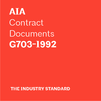 AIA Contract Documents - G703-1992 Continuation Sheet