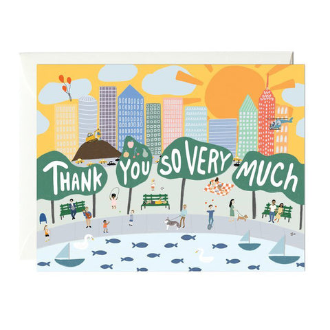 City Scene Thank You Card Set