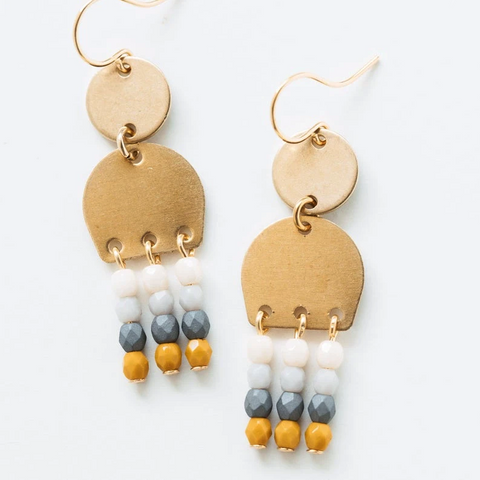 Brass Dangle Earrings by Nest Pretty Things