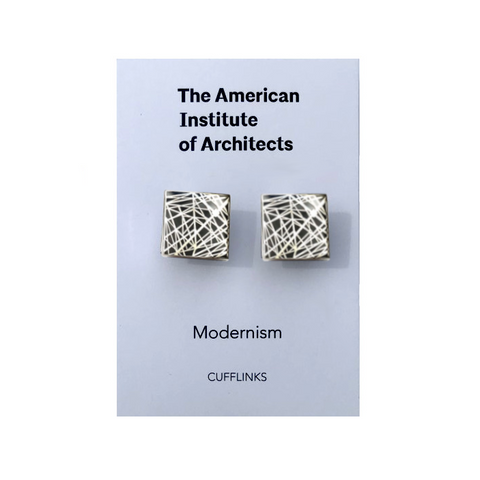 Architecture Series Enamel Cufflinks: Grid