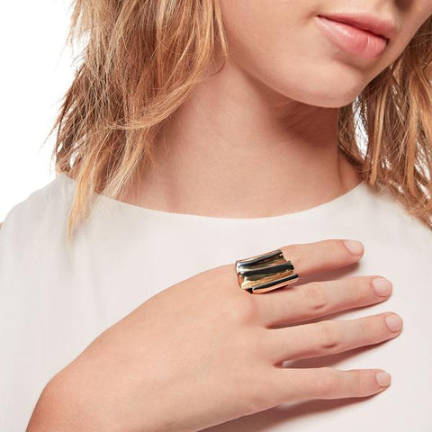 Brass Plleat Ring by K/LLER Collection