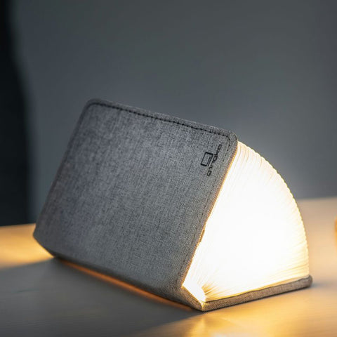 Mini Smart Book Light - Linen Fabric