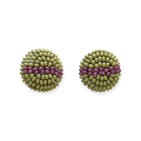 Button Post Beaded Earring by Ink + Alloy
