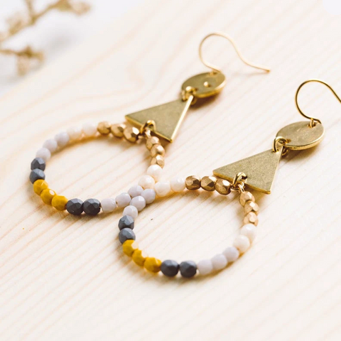 Brass and Hoop Earrings by Nest Pretty Things