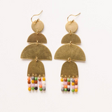 Long Brass and Bead Earrings by Nest Pretty Things